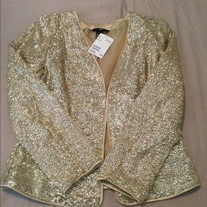 NWT H&M Gold Glitter Blazer
